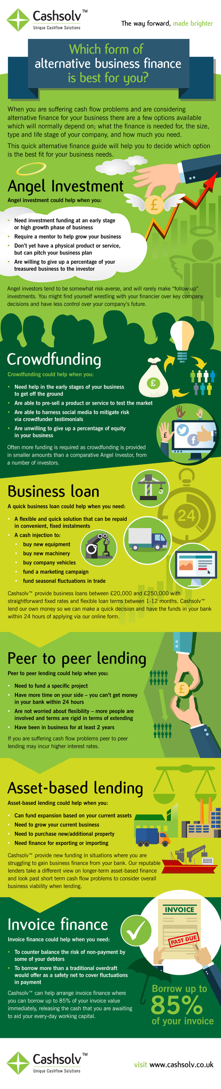 Alternative Business Finance Infographic